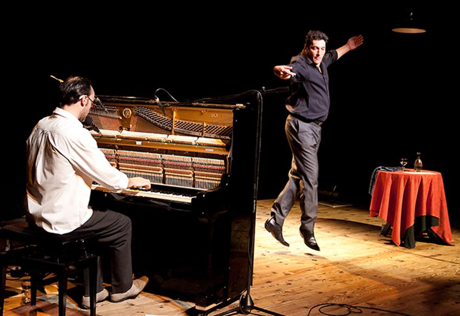 Au « Cabaret de la Méduse » des Deux figurants (© Festiv'Art)