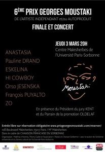 Affiche du Prix Georges Moustaki (Ⓒ droits réservés)