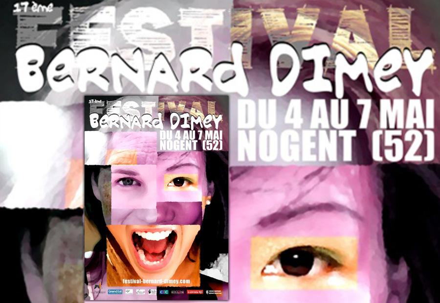 Affiche du Festival Bernard Dimey à Nogent (Haute-Marne) du 4 au 7 mai 2017