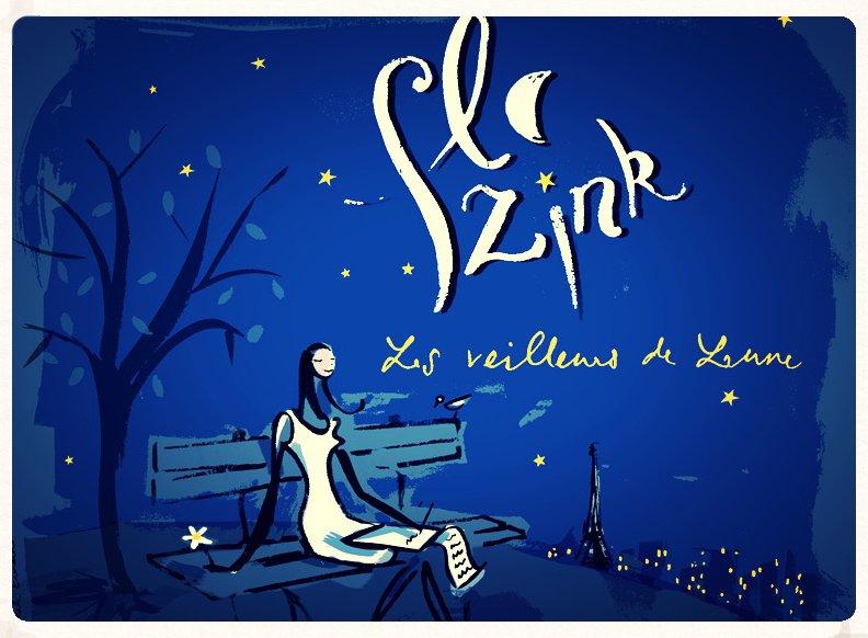Flo Zink - sortie de l'album : Les Veilleurs de lune (Illustration : Pascale Evrard)