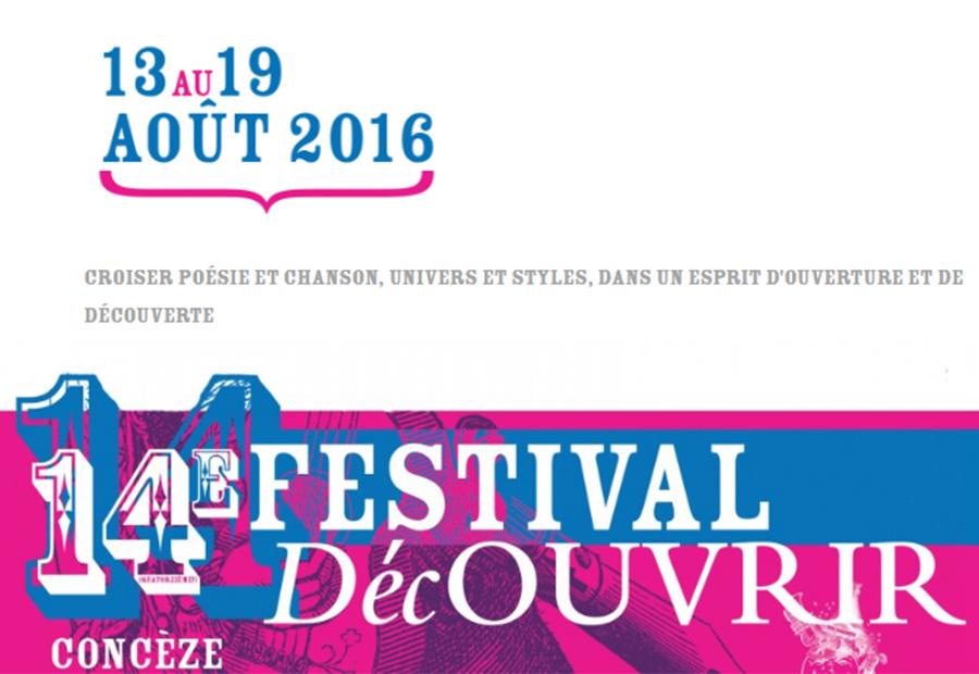 14e Festival Découvrir - Concèze - du 13 au 19 août 2016