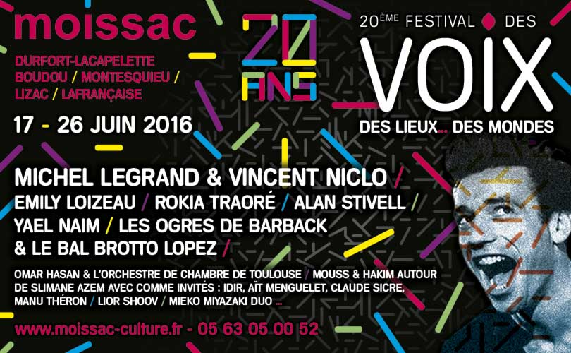 Festival des Voix, des Lieux... des Mondes - du 17 au 26 juin 2016