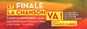 Finale - Et la chanson va ! à la MPAA - Auditorium Saint-Germain (Paris) - lundi 14 novembre, 19h30