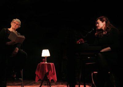 Claude Fèvre & Dora Mars sur scène - Il était un piano noir... Lecture musicale (© René Pagès)