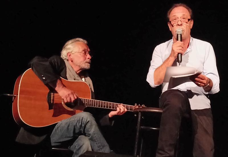 1ères Estivades Poétiques –Tarascon S/ Ariège– Antoine Coesens et Eric Guilleton (©Claude Fèvre)