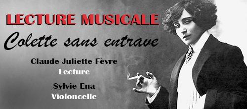 Lecture musicale - Colette sans entrave