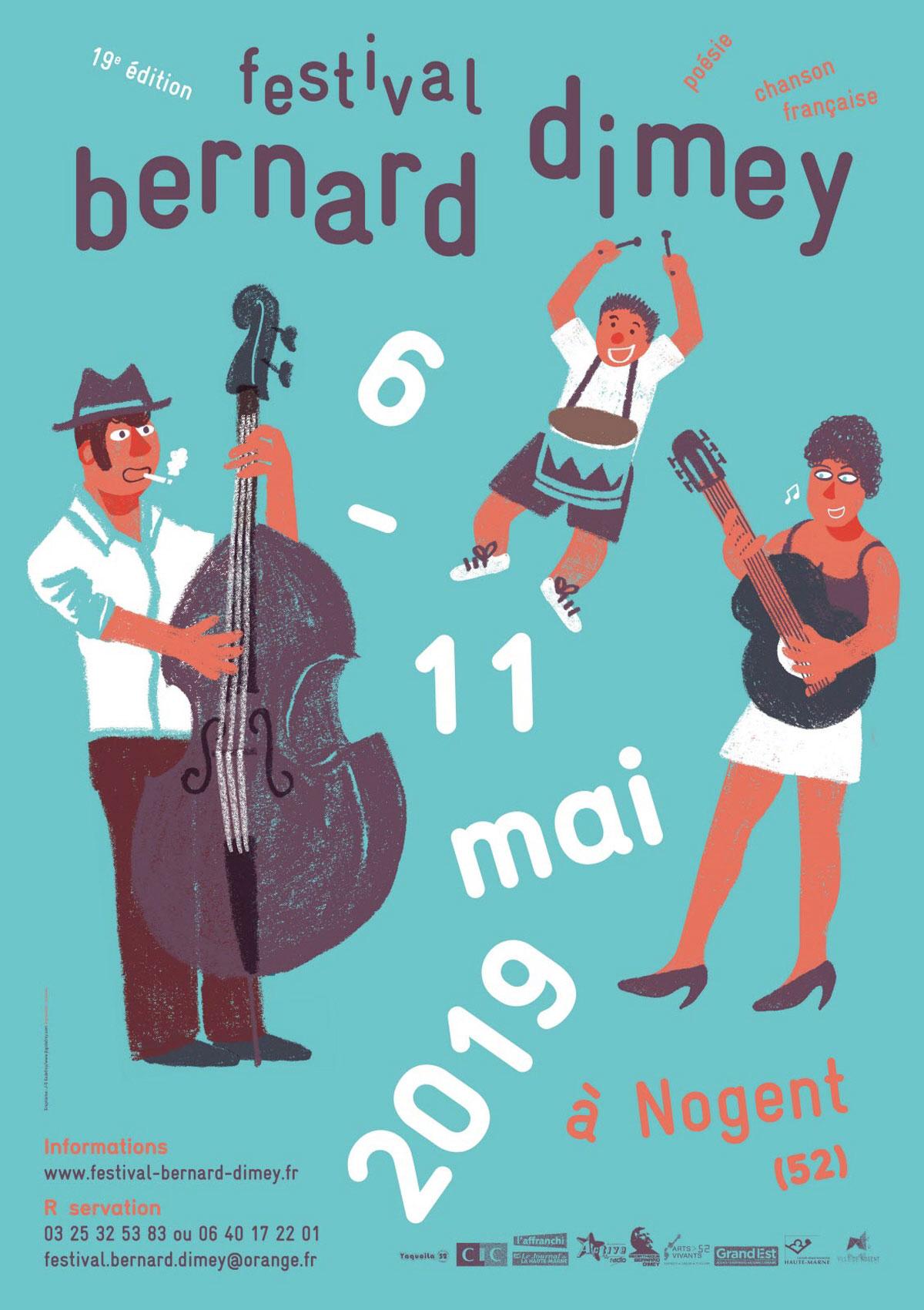 Festival Bernard Dimey à Nogent (Haute-Marne) du 6 au 11 mai 2019