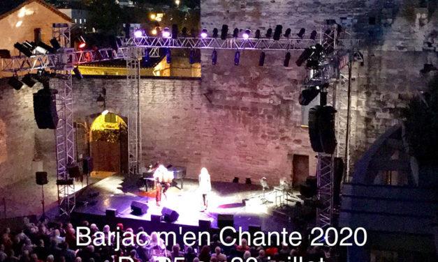 Barjac m'en chante – Festival Chansons de caractère (Gard) du 25 au 30 juillet 2020