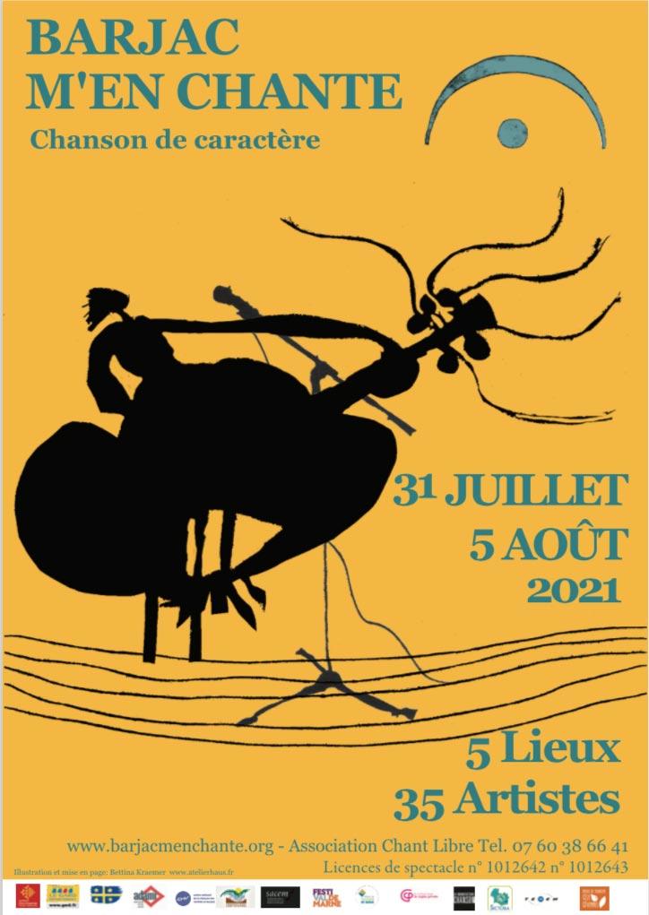 Barjac m'en chante – Festival Chansons de caractère (Gard) du 31 juillet au 5 août 2021